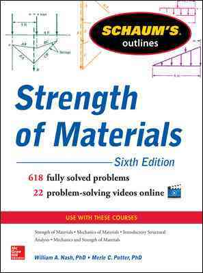 Schaum's Outline of Strength of Materials By Nash, William/ Potter, Merle